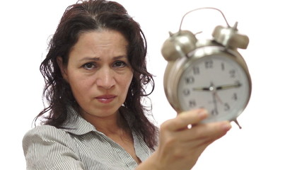 Mad Female Lover With Clock