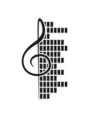 Mischpult DJ Laut Notenschlüssel