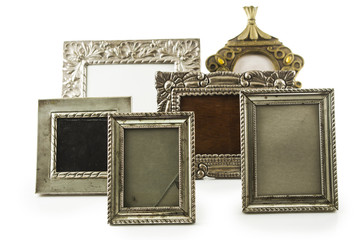 old metallic photo frame
