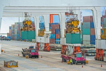 container operation in sea port