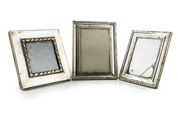 old metallic photo frame