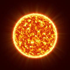 The sun close up