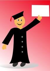Persona graduada, con diploma en su mano