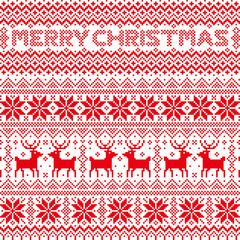 Merry Christmas ノルディック柄
