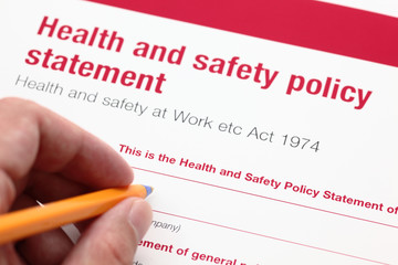 Health and safety policy statement.
