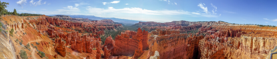 beautiful panorama of bryce canyon national park