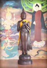 Buddha sacred Buddhist religious Lanna. Chiang Mai, Thailand.