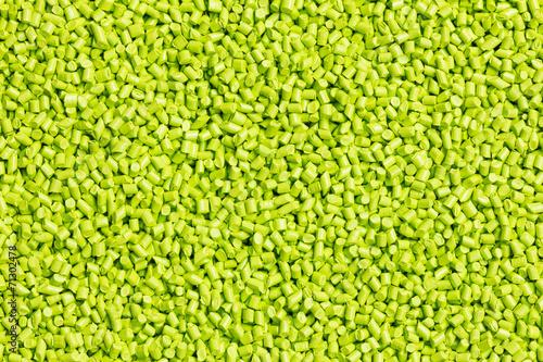 Leinwandbild Motiv green plastic resin ( Masterbatch )