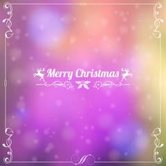 Retro Christmas Frame