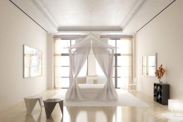 Schlafzimmer im Licht
