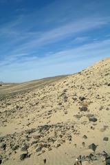 Egyptian desert  and blue sky.