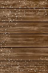 Holz und Schnee
