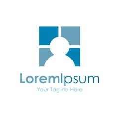 Look through a window icon simple elements logo