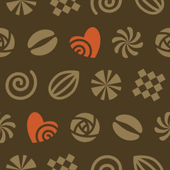 Seamless pattern of chocolates