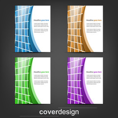 Set of business flyer, corporate banner or cover design
