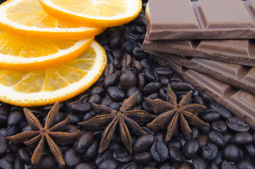 Fragrant spices, coffee, orange and chocolate