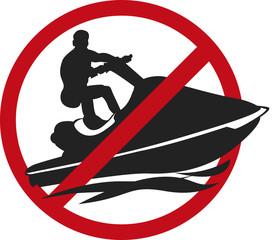 Jet-ski Picto interdit vecteurs 2.