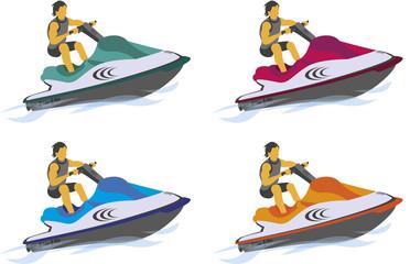 Jet-ski Illustration vecteurs