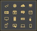 Internet and Web icon set