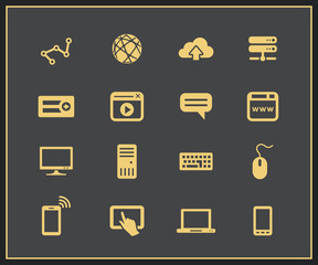 Internet and Web icon set