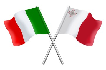Flags: Italy and Malta