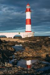 Itapua lighthouse in Salvador, Brazil.