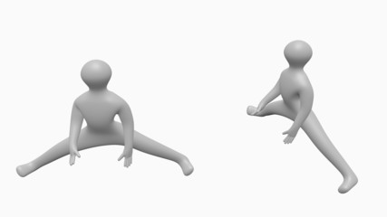 3D person does physical exercise