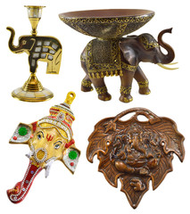 Set with various symbols of Hindu god Ganesha