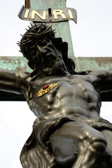 jesus on the cross black 2