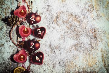 Adventslichter 1 bis 4 Kerzen Karte