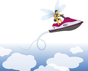 Jet-ski libellule Picto vecteurs