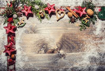 Weihnachtskarte mit Copy Space
