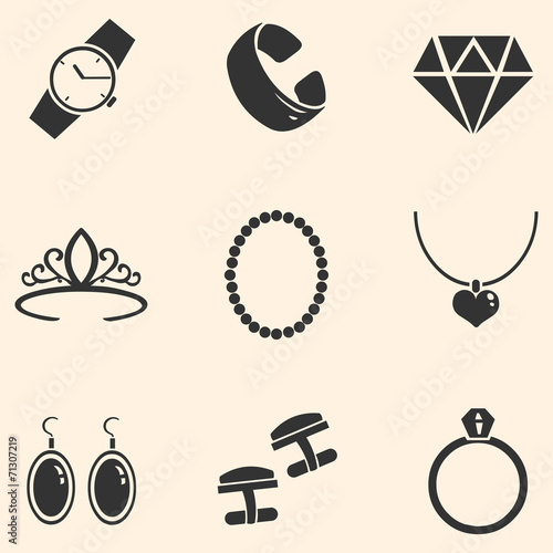 Vector Set of Jewellery Icons - 71307219