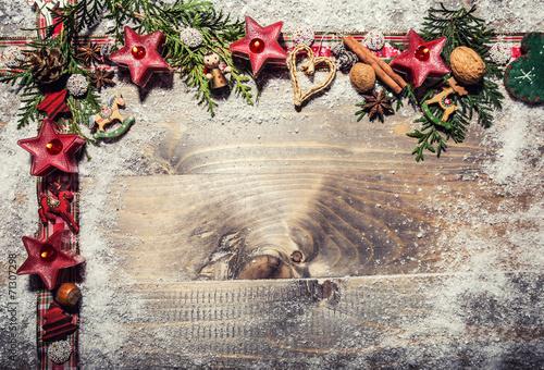 canvas print picture Weihnachtskarte mit Copy Space