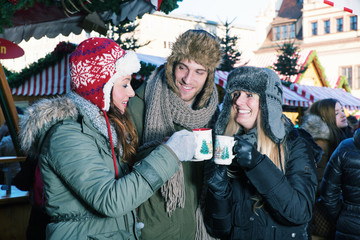 Friends at X mas market