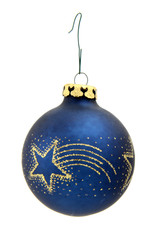 Isolated blue Christmas ball