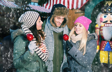 fun on christmas market