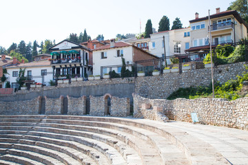 Ohrid old amphitheater