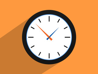 Clock   World time concept,Flat design style