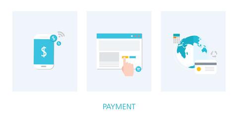 payment concept icon set