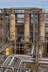 Distillation Towers in an Oil Refinery