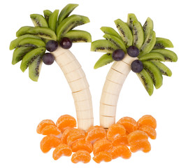 Fresh fruit served in a funny way