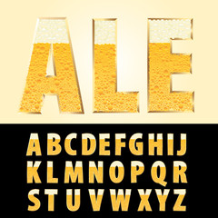 golden ale letters
