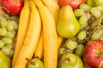 Bananas Pears Grapes and Apples