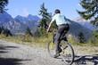 Radler im Gebirge