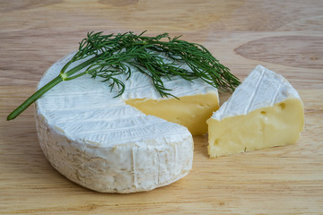 Camembert cheese with dill