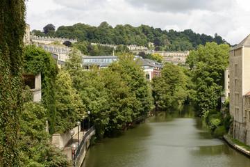 cityscape with river Avon, Bath