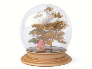 Autumn in a Snow Globe