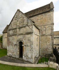 side of Saxon church of st Lawrence, Bradford on Avon