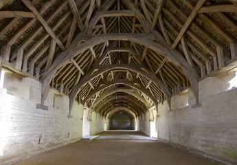 medieval barn interior, Bradford on Avon